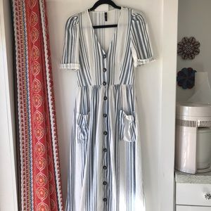 ZARA TRF Collection Button Midi Dress